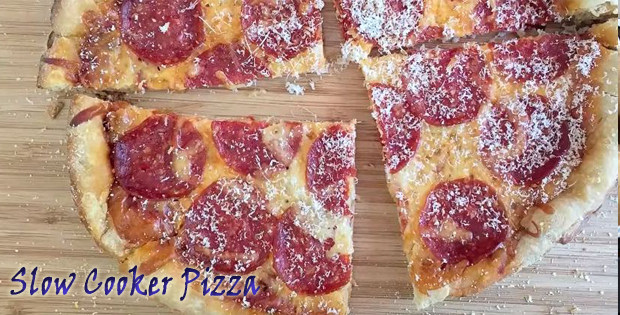 The Easiest Slow Cooker Pizza