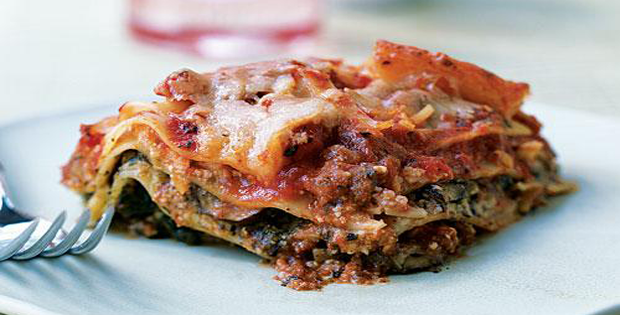 Oh So Healthy Pesto Lasagna with Spinach and Mushrooms