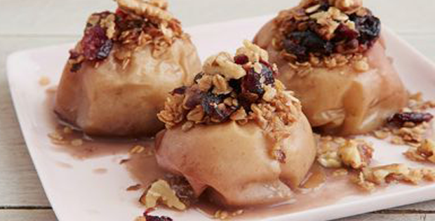 Slow Cooker Cranberry-Walnut Stuffed Apples Anytime Of The Day