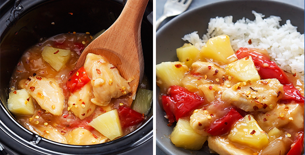 Steaming Hot Slow Cooker Sweet Fire Chicken