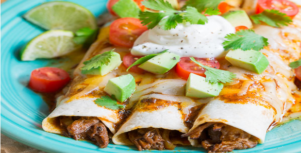 Sweet And Spicy Slow Cooker Beef Enchilada