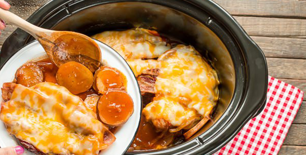 Crock Pot Sweet Baby Ray's Barbeque Pork Chops And Potatoes [VIDEO]