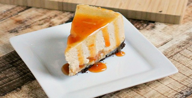 A Super Sinful Slow Cooker Caramel Macchiato Cheesecake