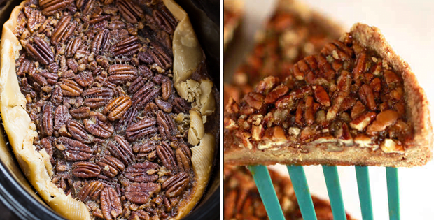 A Holiday Slow Cooker Pecan Pie