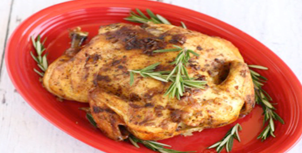 A Christmas Crock Pot Ranch Onion Whole Chicken