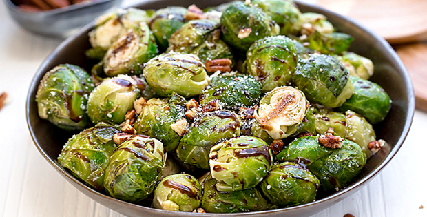 A Very Indulging And Hearty Slow Cooker Balsamic Brussels Sprouts