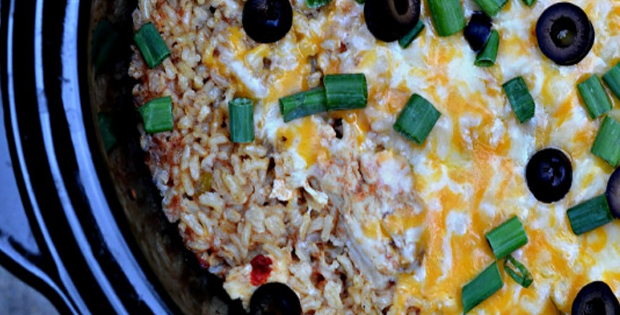 Here's A Quick Slow Cooker Chicken And Rice Burrito Bowls Dish
