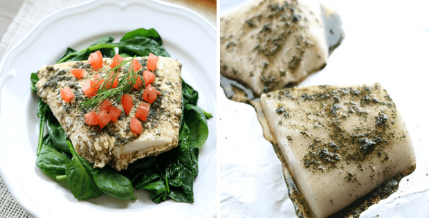 A Very Light Slow Cooker Lemon Dill Halibut