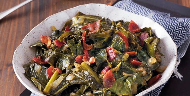 A Green And Healthy Meal: Slow Cooker Balsamic Collard Greens
