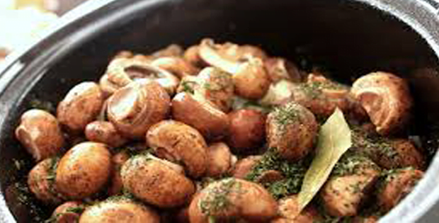 Tremendously Flavorful Slow Cooker Marinated Mushrooms