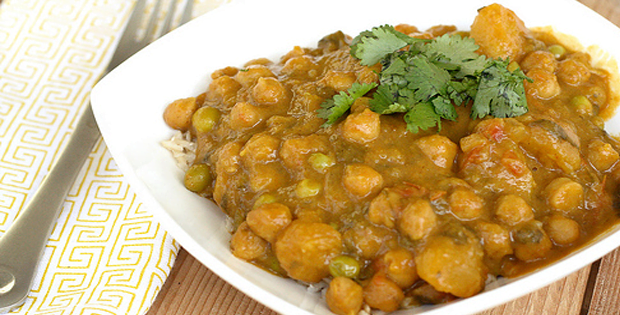 Slow Cooker Butternut Squash And Chickpea Coconut Curry