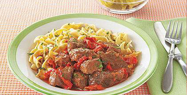 A Hearty Slow Cooker Hungarian Beef Goulash