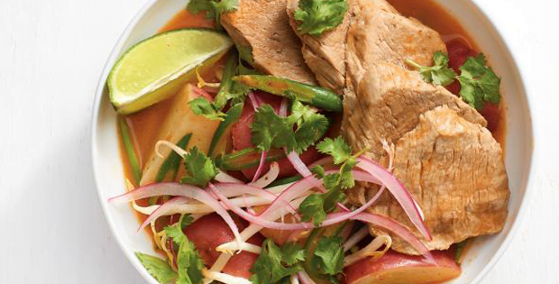 Hot And On A Roll With This Slow Cooker Pork Curry