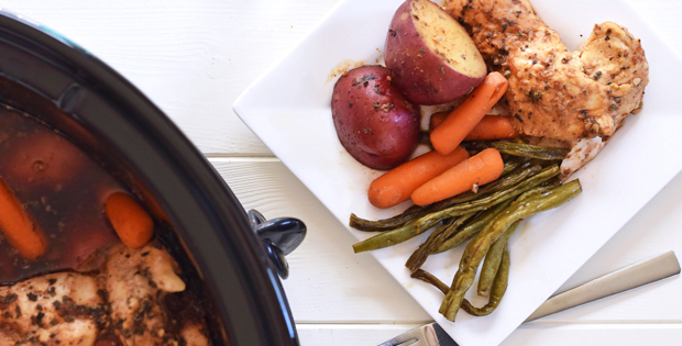 Crock Pot Honey Garlic Chicken And Veggies