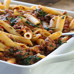 Slow Cooker Spinach, Beef And Cheese Pasta