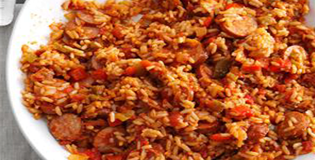 Slow Cooker Sausage Spanish Rice