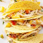 Slow Cooker Mango-Pineapple Chicken Tacos