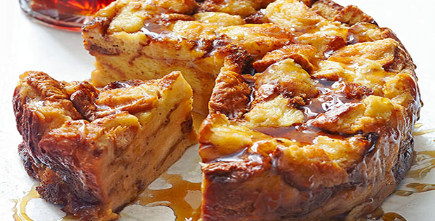 Slow Cooker Eggnog French Toast Bread Pudding