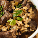 Slow Cooker Beef And Barley Stew With Mushrooms