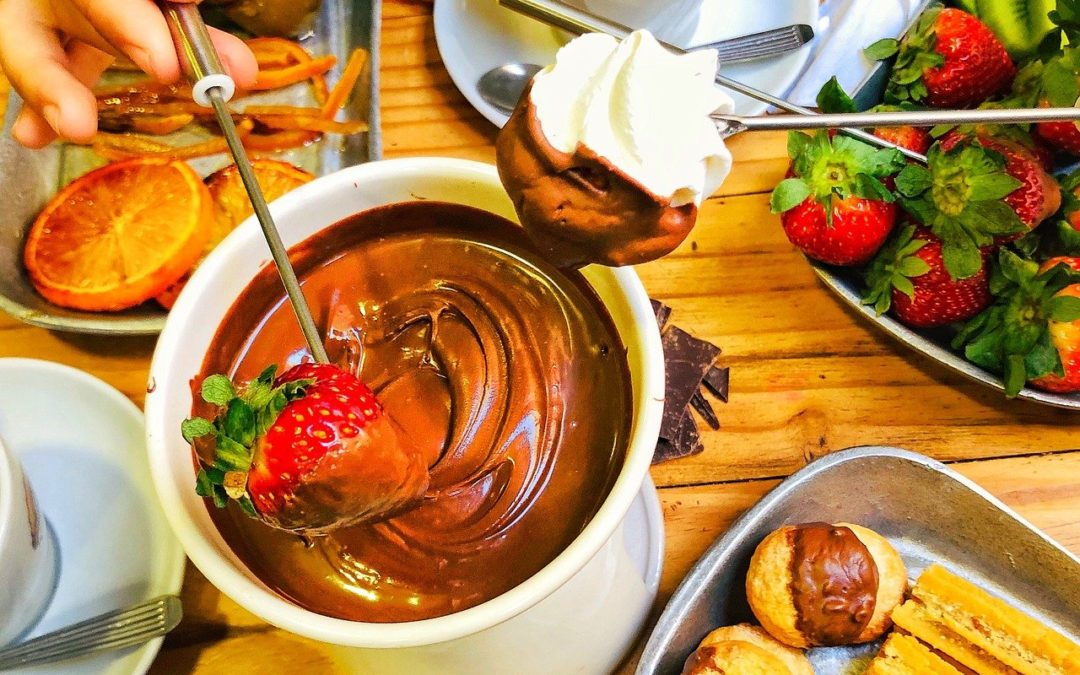Celebrate Halloween With a Slow Cooker Candy Bar Fondue